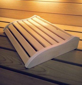 Reposacabezas de sauna..
