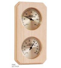 Navpični termo-higrometer s škatlasto obliko