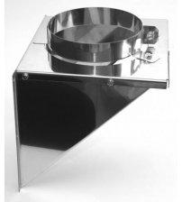 Un cuadrado con un agujero de acero