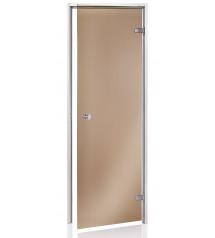 Höyrysaunan ovet, ruskea lasi