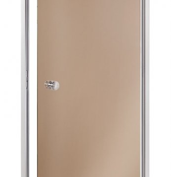 Steam bath doors, brown..