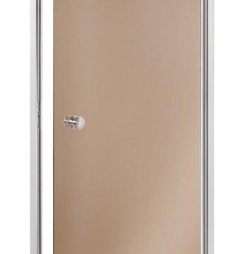 Dampbadsdøre, brunt gla..