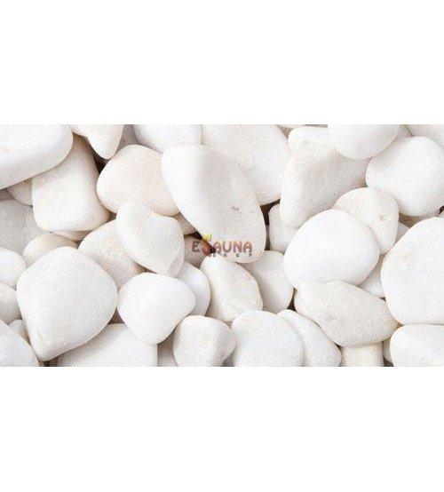 White sauna stones