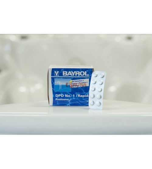 Ūdens testēšanas tabletes DPD 1, hlora noteikšana