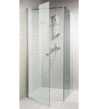 Juego de ducha de esquina transparente AD