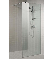 AD transparent shower wall
