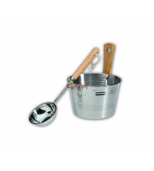 EOS sauna set stainless steel