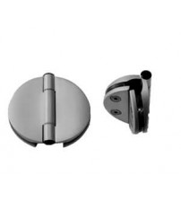 Twin-side door hinge for 6 - 8 mm glass doors