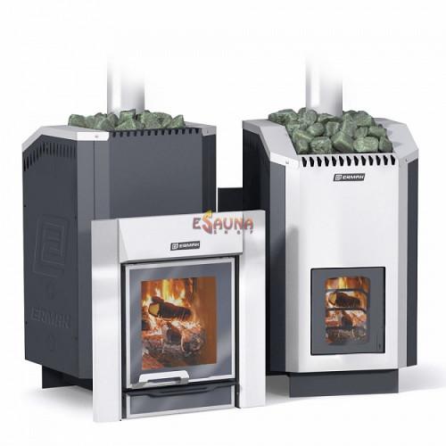 Wood-burning sauna stove - ERMAK 24 Liuks Inox