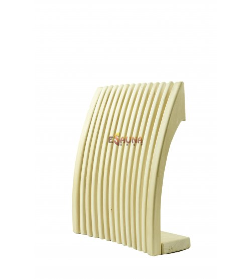 Sauna backrest-headrest