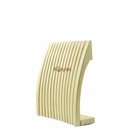 Sauna backrest-headrest