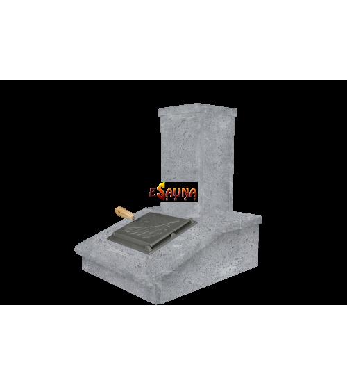 Отделка дымохода камнем, Мыльный камень, 540 мм