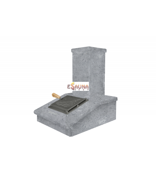 Skorsten i sten, fedtsten, 540 mm