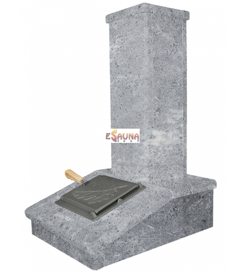 Отделка дымохода камнем, Мыльный камень, 790 мм