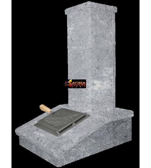 Stone chimney finish, Soapstone, 790 mm