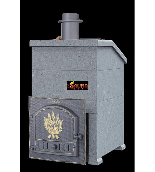 Печка за сауна на дърва - Gefest GFS ZK 40 President 1140/60 Сапунен камък