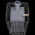 Wood-burning sauna stove - Gefest Grom Uragan 50 (P)