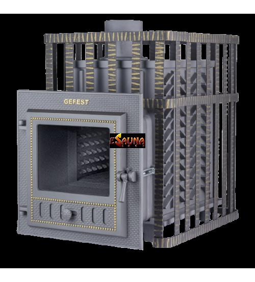 Brændeovns saunaovn - Gefest GFS ZK 25 (M) i gitter