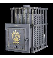 Træbrændende saunavarmer - Gefest GFS ZK 30 i gitteret