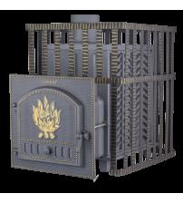 Træbrændende saunaovn - Gefest GFS ZK 40 i gitteret