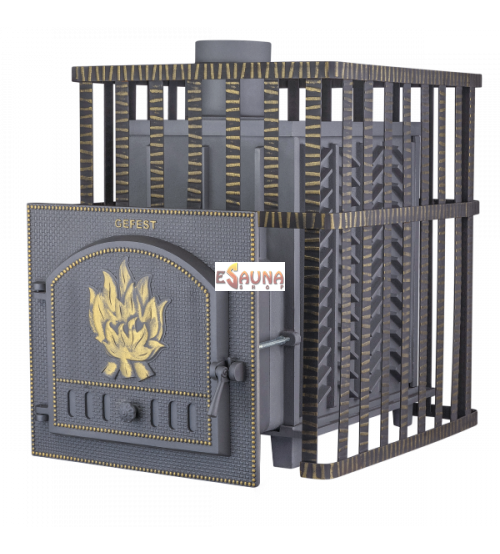 Stufa per sauna a legna - Gefest GFS ZK 40 in griglia
