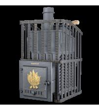 Træbrændende saunaovn - Gefest GFS ZK Uragan 18 i gitter