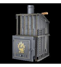 Træbrændende saunaovn - Gefest GFS ZK Uragan 30 i gitter