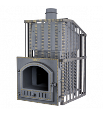 Træbrændende saunaovn - Gefest GFS ZK Uragan 30 (P) i gitter