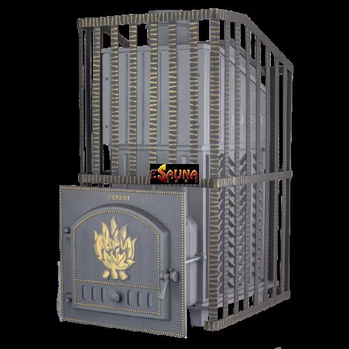 Poêle de sauna à bois - Gefest GFS ZK Uragan 45 en grille