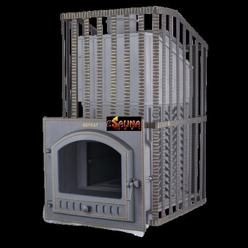 Poêle de sauna à bois - Gefest GFS ZK Uragan 40 (M) en grille