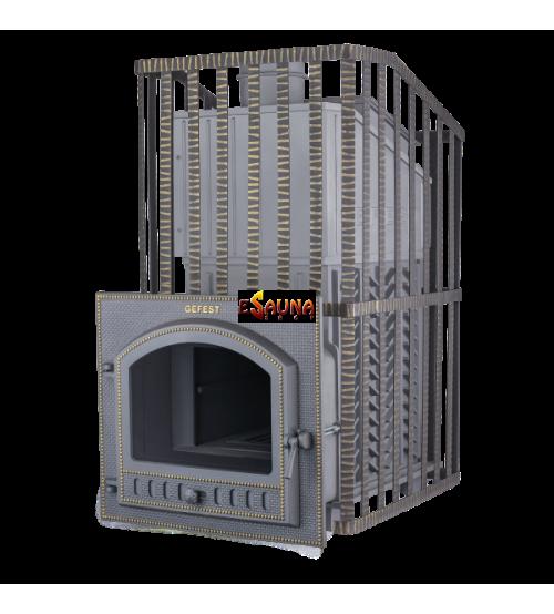 Печка за сауна на дърва - Gefest GFS ZK Uragan 40 (M) в решетка