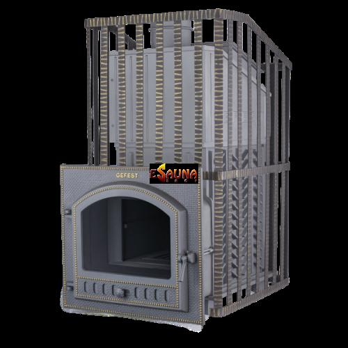 Poêle de sauna à bois - Gefest GFS ZK Uragan 45 (P) en grille