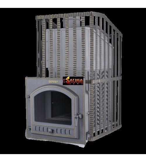 Печка за сауна на дърва - Gefest GFS ZK Uragan 40 (P) в решетка