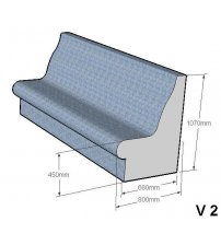 Steam sauna seat V-2