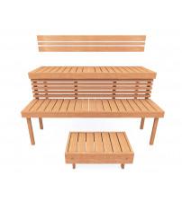 Modular sauna bench STANDART, Alder