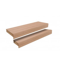Sauna bench, Alder, 600/400 x 2350mm