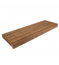 Saunaliege, wärmebehandelte Kiefer, 135x654x1800-2400mm