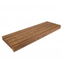 Lavica do sauny, tepelne upravená borovica, 135x654x1800-2400 mm