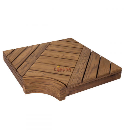 Rohový modul pre modulárne saunové lavice, Borovica