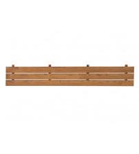 Spodný prvok saunovej lavice, tepelne upravená borovica