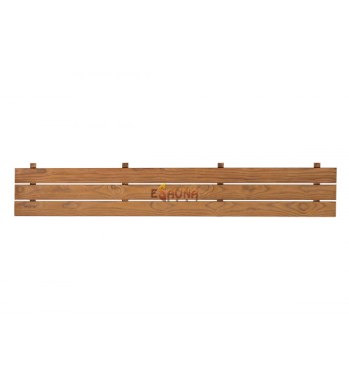 Bundelement på sauna -bænken, Varmebehandlet fyr
