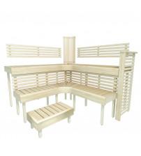 Modular sauna bench PREMIUM, Aspen