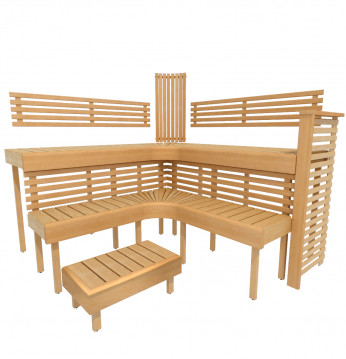 Modulær sauna bænk PREM..