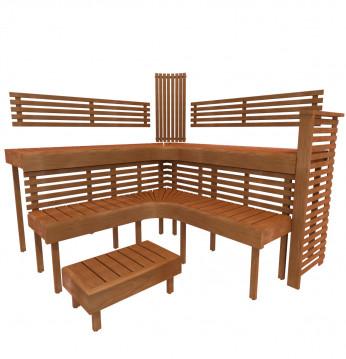 Banco de sauna modular ..