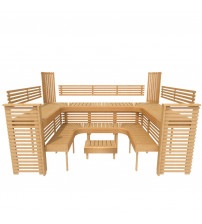 Модулна пейка за сауна PROFESSIONAL, 3200x2090mm