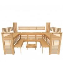 Modulær sauna bænk PROFESSIONAL, 3200x2090mm