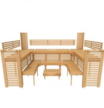 Modular sauna bench PRO..