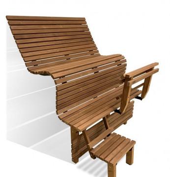Modular sauna bench ERG..