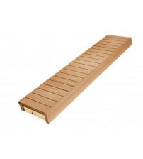 Banc de sauna, tremble / aulne, 400x1600-2400 mm