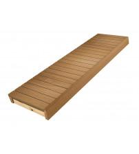 Sauna bænk, termo asp, 400x1600-2400 mm
